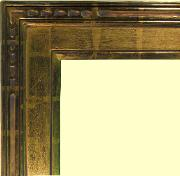 Hand carved 22k gold leaf frame, watergilding by goldleaf gilders