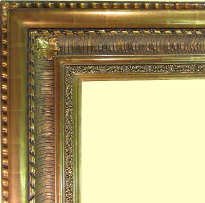 Large 22k Gold Leaf picture frame, water gilding, antique reproduction