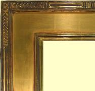 Hand carved Arts & Crafts cassetta, 22k Gold Leaf picture frame, watergilt