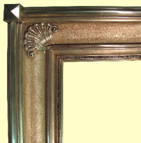 Large 12k Gold Leaf picture frame, water gidled antique reproduction