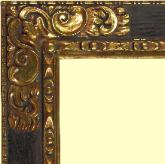 Hand-carved Spanish frame water gilded in 22k Gold Leaf gilt