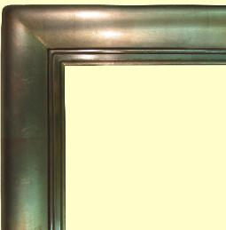 Big Fat Botero 12k white gold leaf picture frame, watergilt by goldleaf gilders